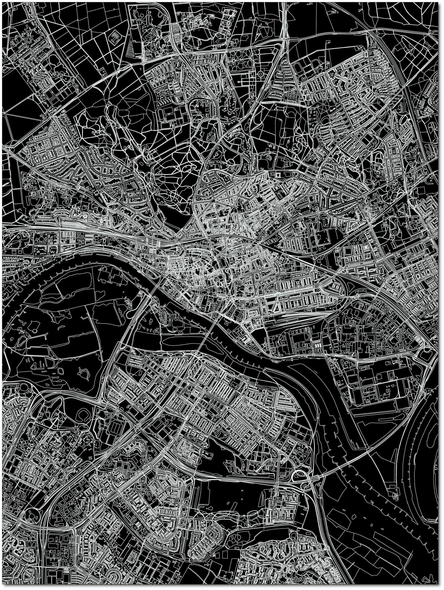 Citymap Arnheim | Aluminium Wanddekoration-3