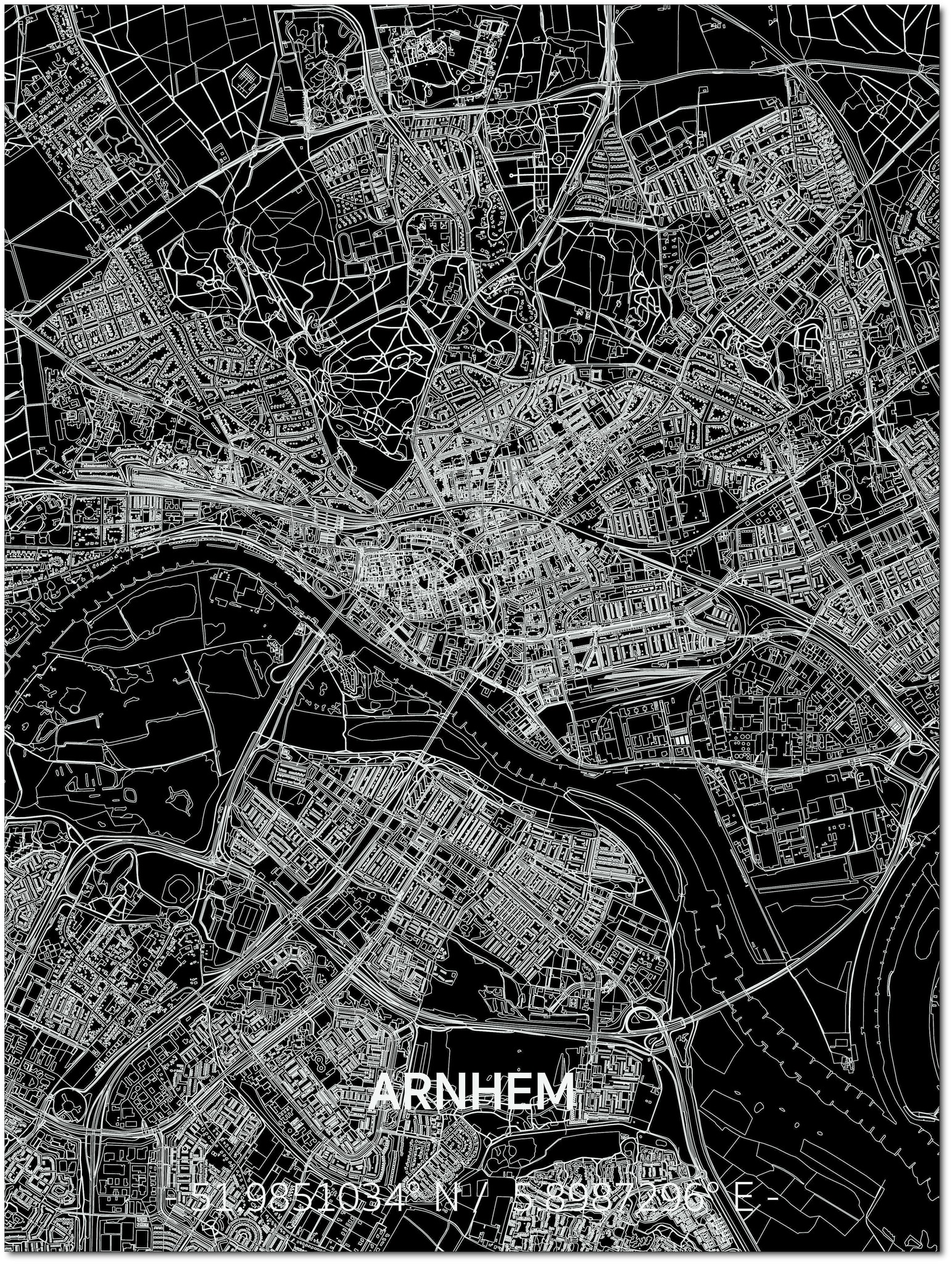 Citymap Arnhem | Aluminum wall decoration-1