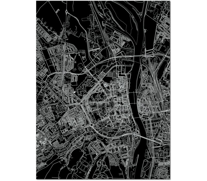 Citymap Maastricht | Aluminum wall decoration