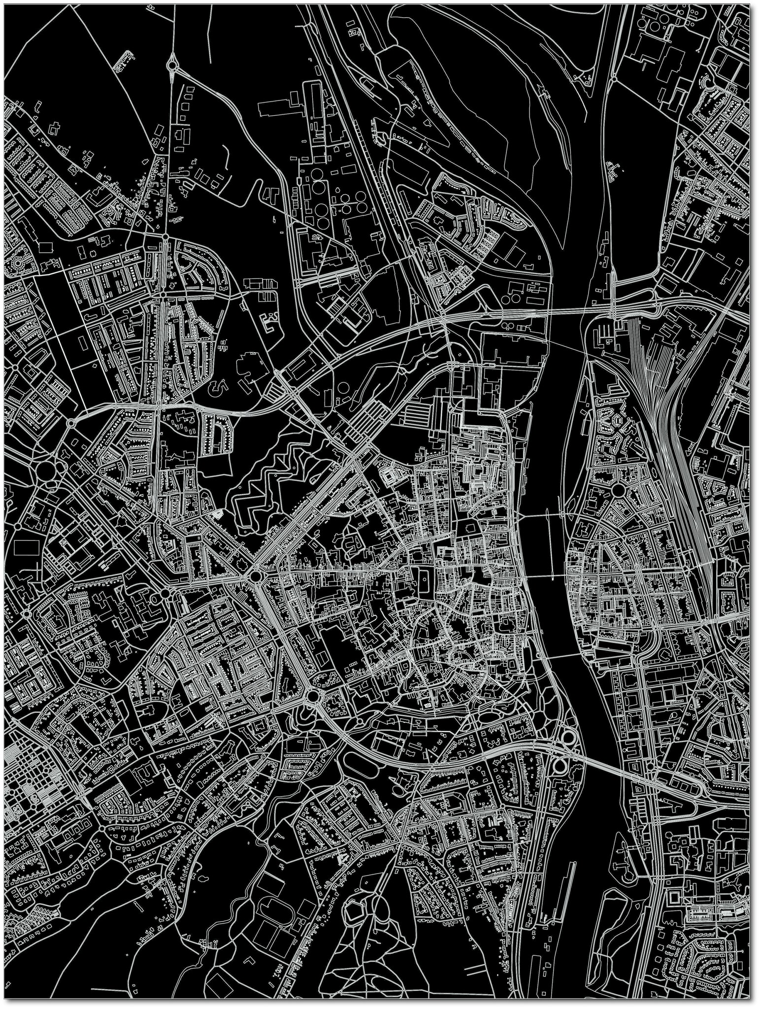 Citymap Maastricht | Aluminium Wanddekoration-3