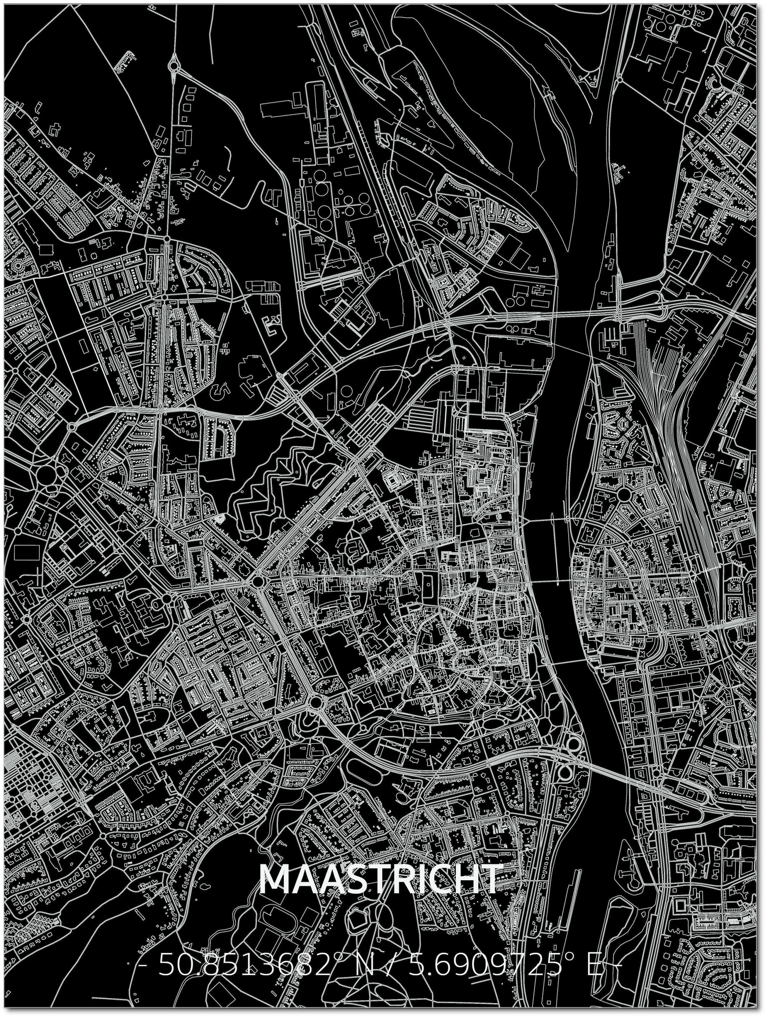 Citymap Maastricht | Aluminium Wanddekoration-1