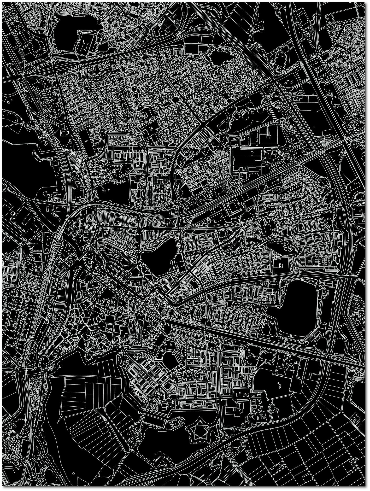 Citymap Den Bosch | Aluminium wanddecoratie-3