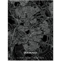 Citymap Den Bosch   Aluminium wanddecoratie