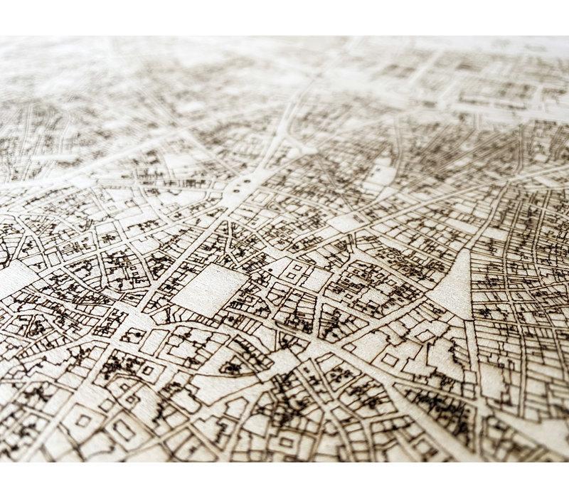 Stadtplan Madrid | Wanddekoration Holz