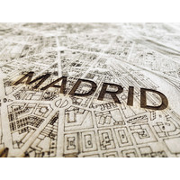Citymap Madrid | houten wanddecoratie