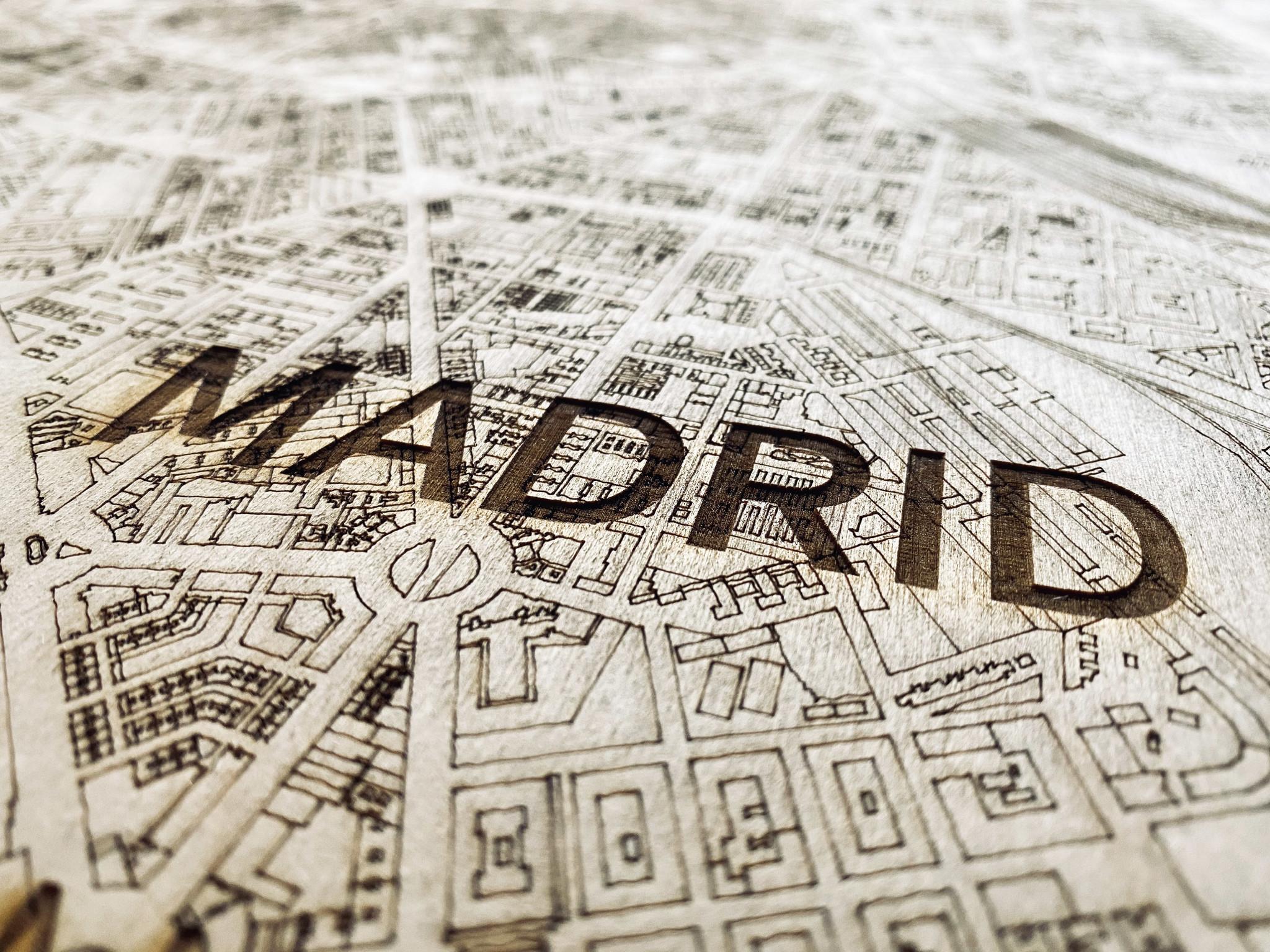 WOODEN WALL DECORATION MADRID CITYMAP-4