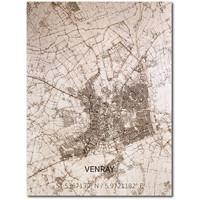 Citymap Venray   houten wanddecoratie