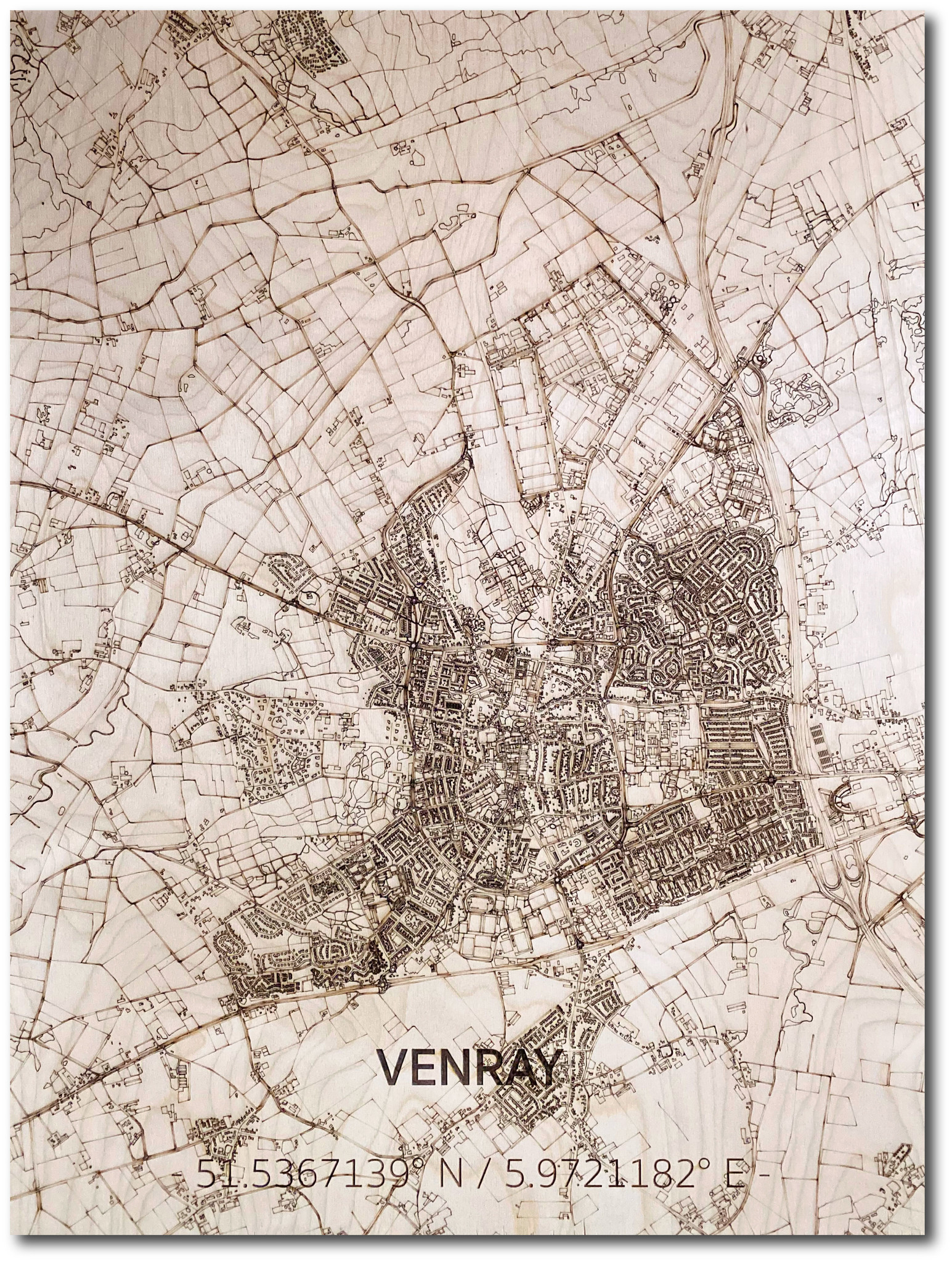 Citymap Venray | wooden wall decoration-1
