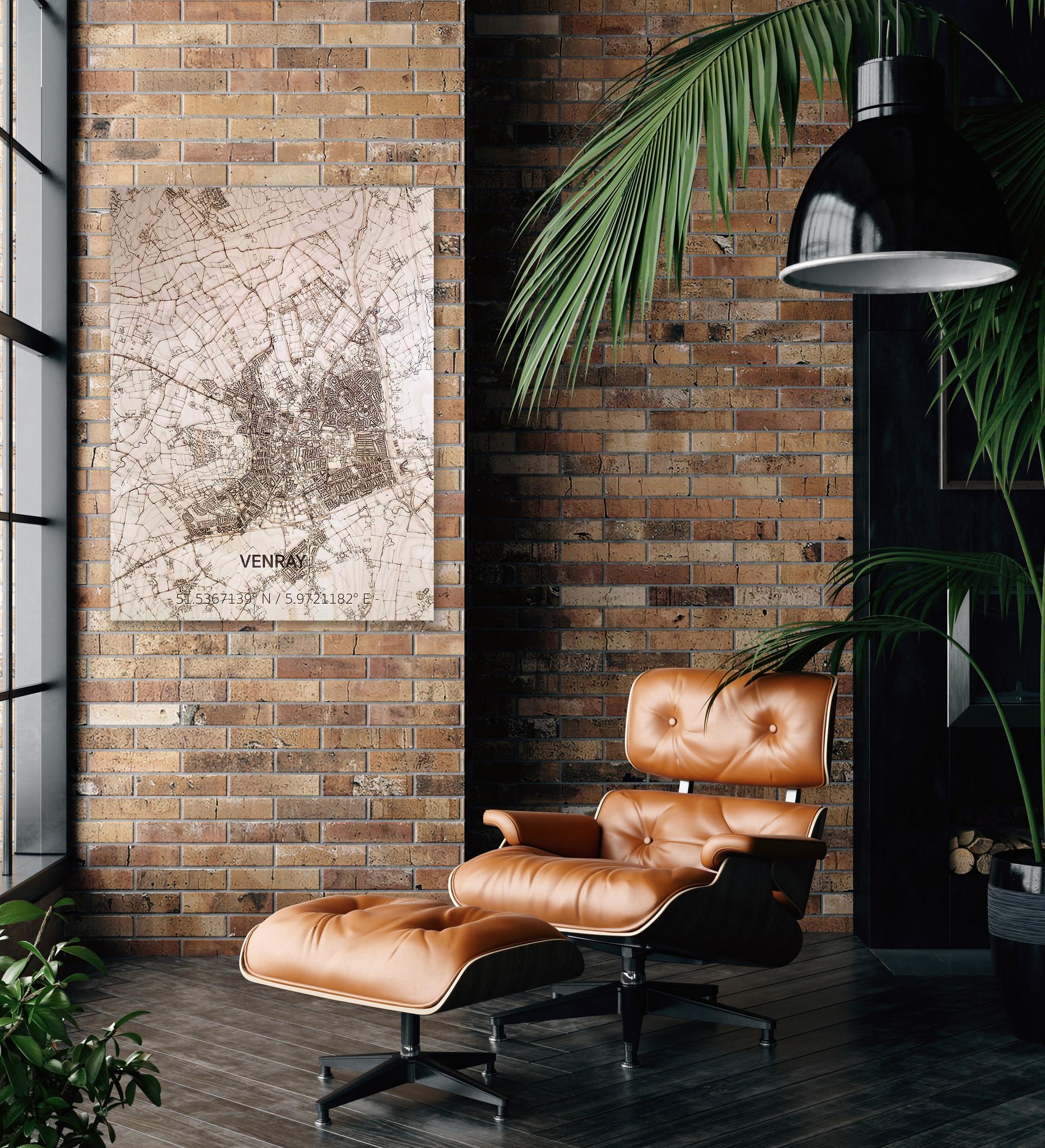 Citymap Venray | wooden wall decoration-2