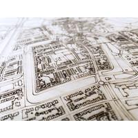 Citymap Culemborg | houten wanddecoratie