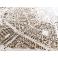 Citymap Den Haag XL | Houten wanddecoratie