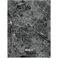 Citymap Berlin   Aluminum wall decoration