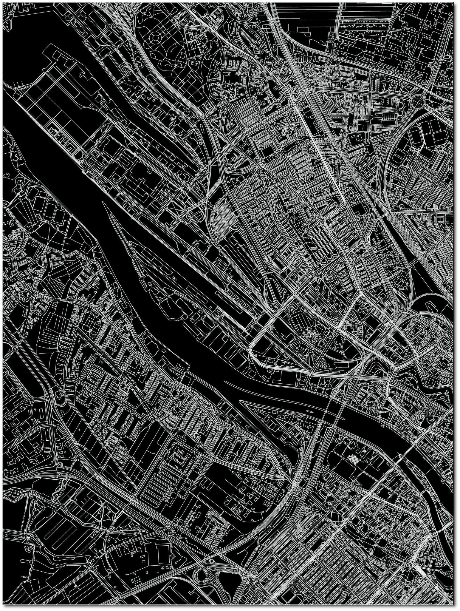 Stadtkarte Bremen | Aluminium Wanddekoration-3