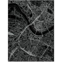 Citymap Dresden | Aluminum wall decoration