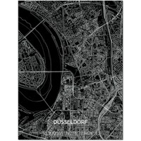 Citymap Düsseldorf   Aluminium wanddecoratie