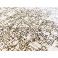 Stadtplan Tilburg | Wanddekoration Holz