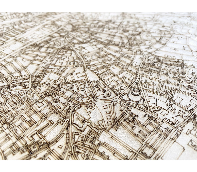 Citymap Tilburg | houten wanddecoratie
