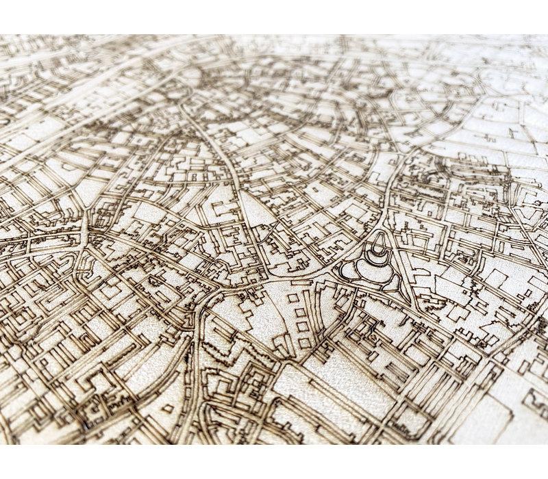Citymap Tilburg | wooden wall decoration