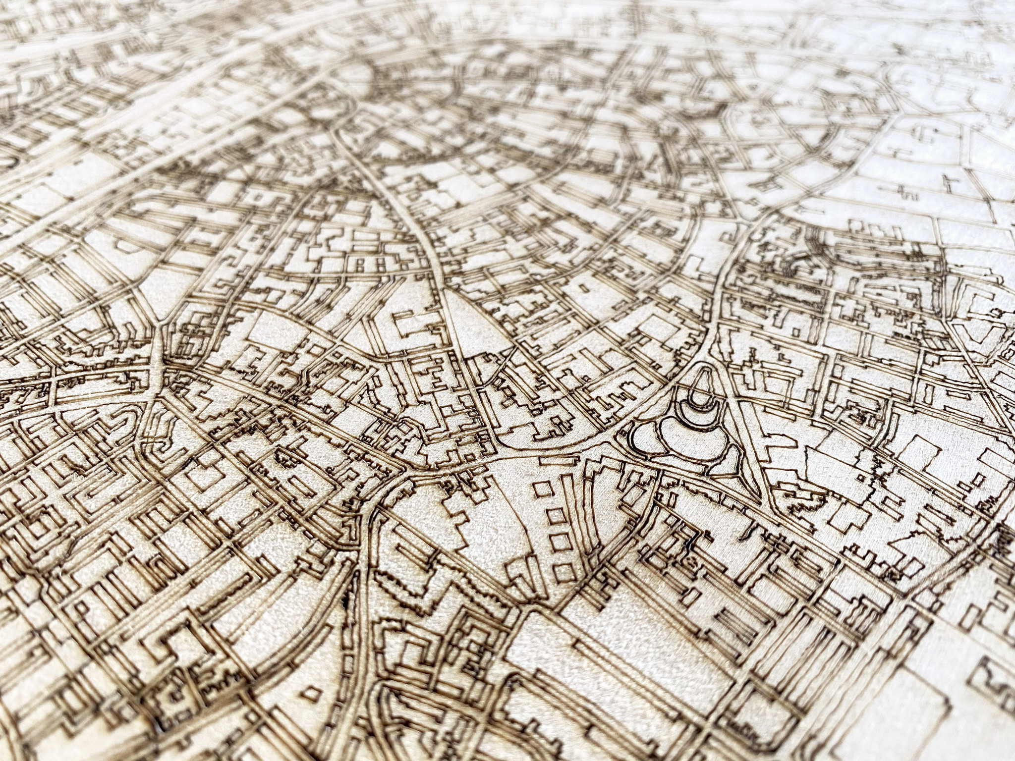 Stadtplan Tilburg | Wanddekoration Holz-4