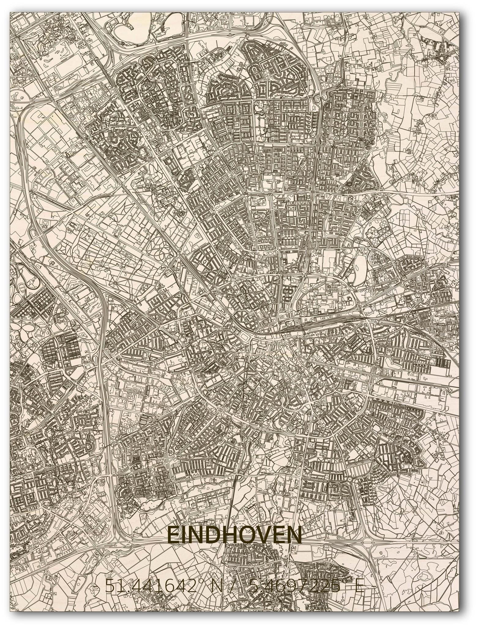 WOODEN WALL DECORATION EINDHOVEN CITYMAP-1