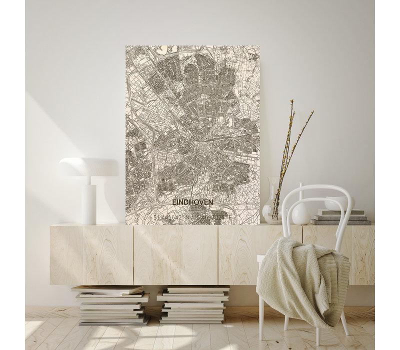 Stadtplan Eindhoven | Wanddekoration Holz