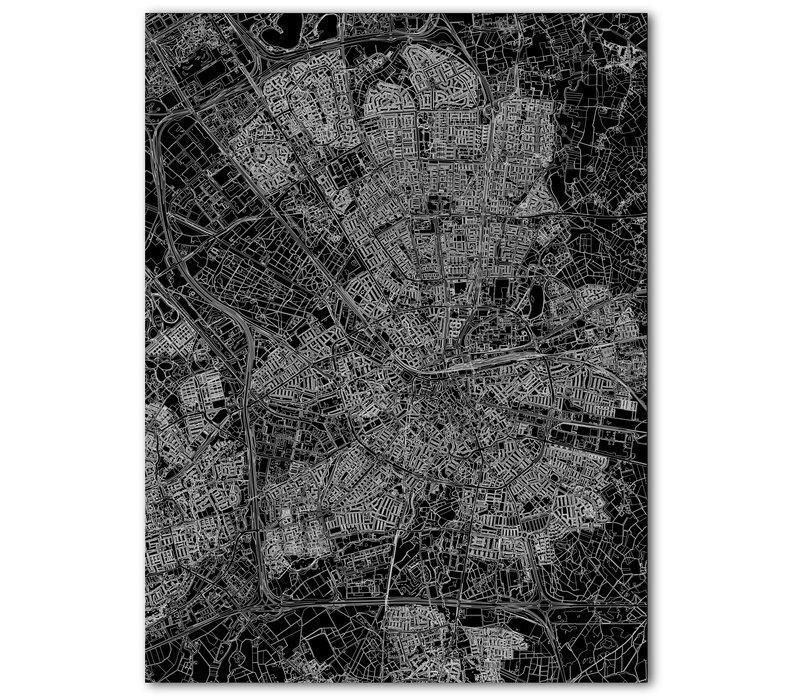 Citymap Eindhoven | Aluminum wall decoration