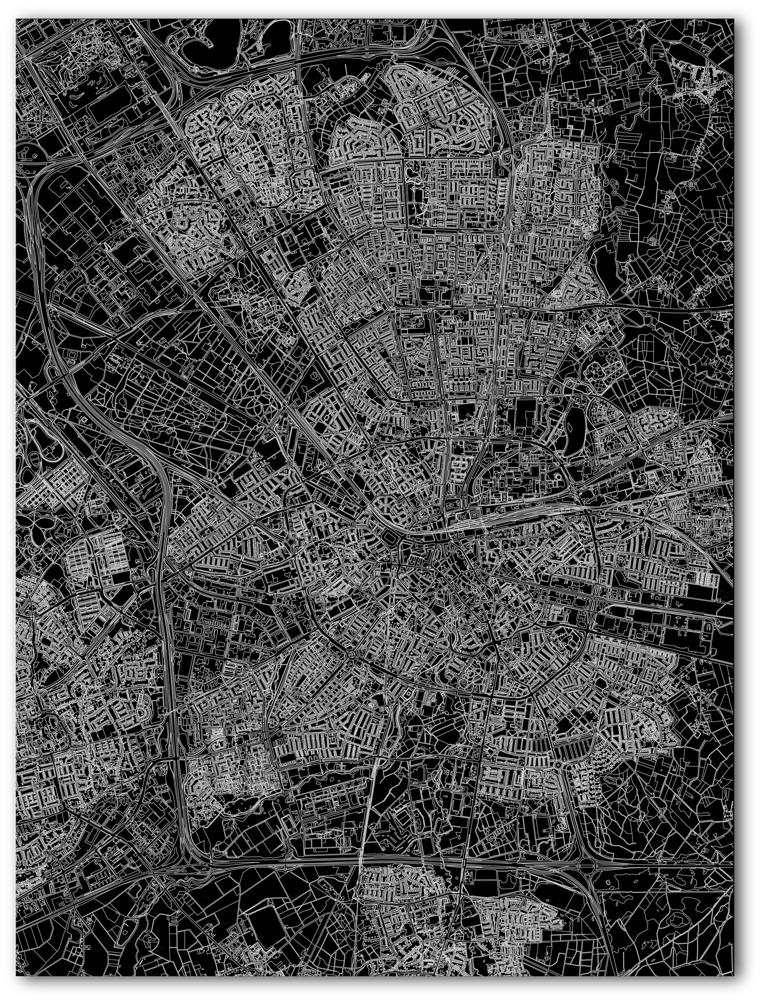 Citymap Eindhoven | Aluminium wanddecoratie-3