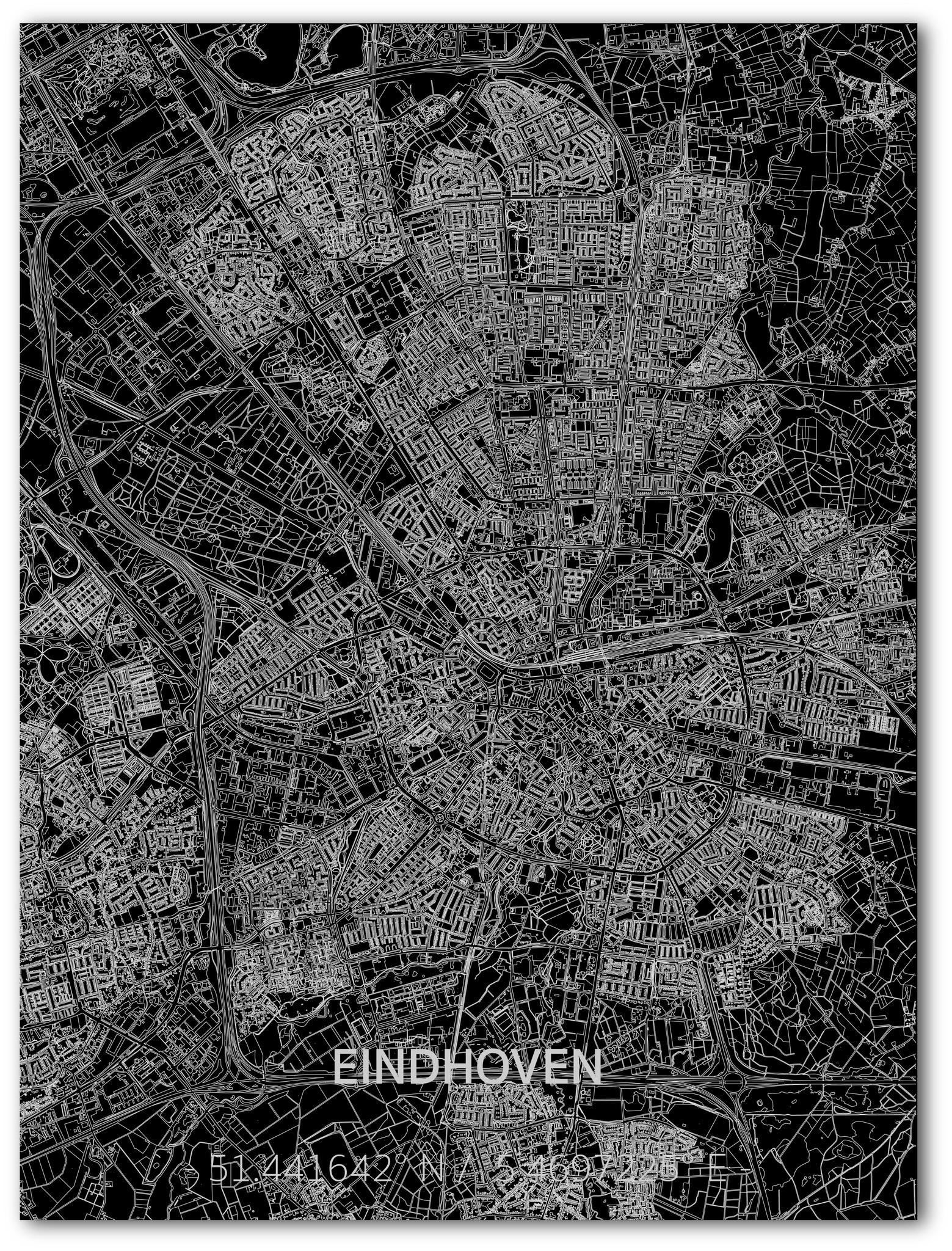 Citymap Eindhoven | Aluminium wanddecoratie-1