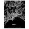 Stadtkarte Neapel   Aluminium Wanddekoration