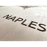 Citymap Naples   wooden wall decoration