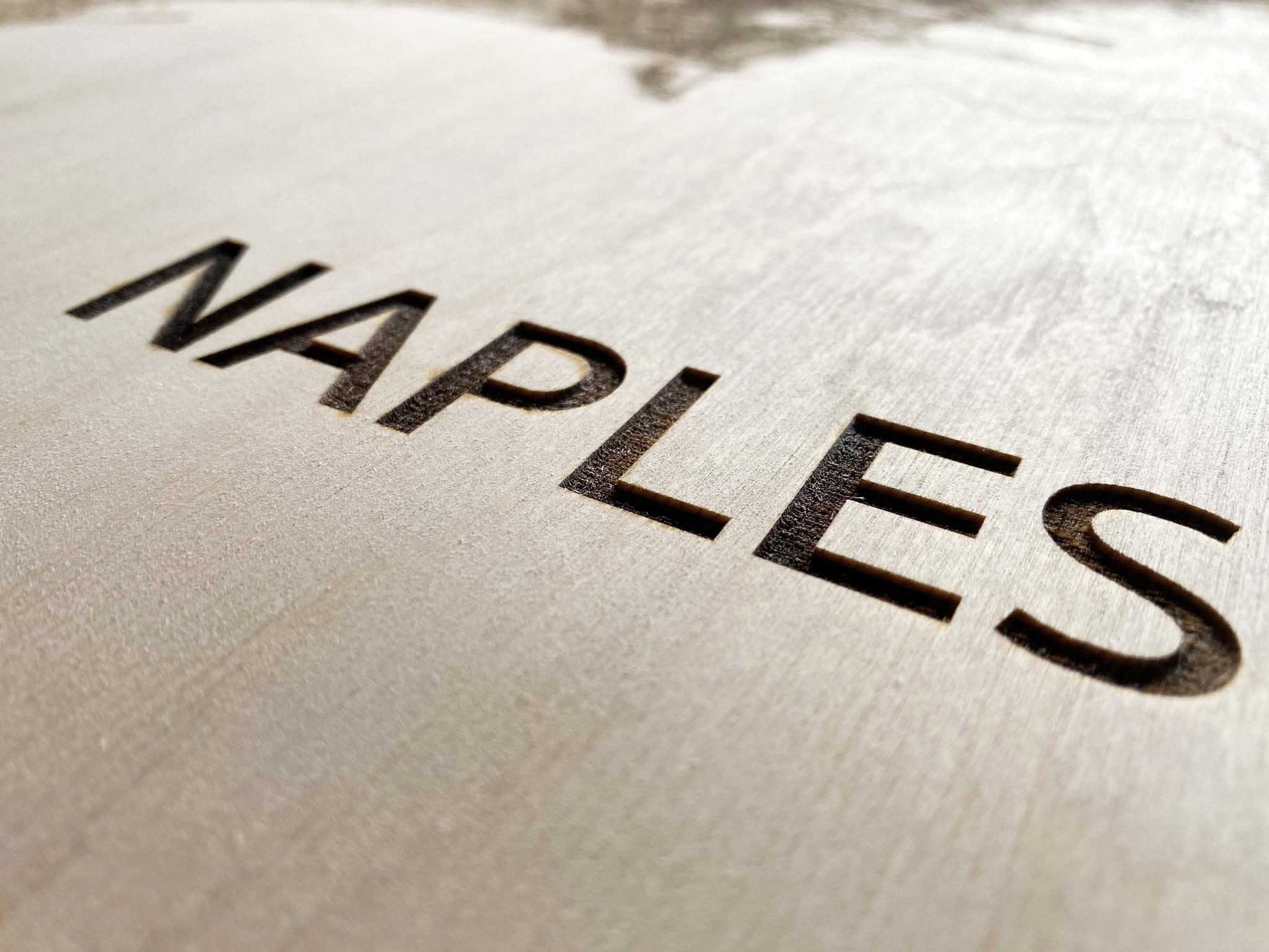 Citymap Napels | houten wanddecoratie-4