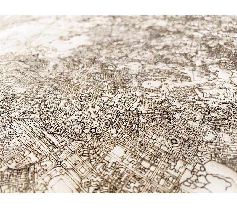 Citymap Napels | houten wanddecoratie
