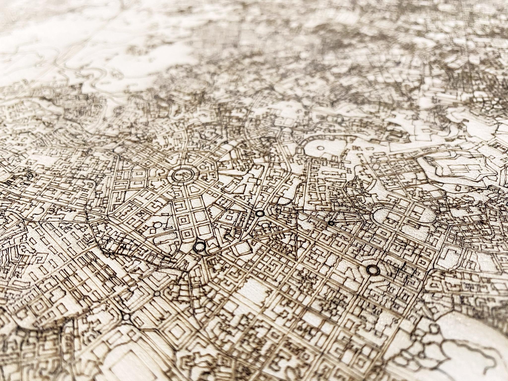 Citymap Napels | houten wanddecoratie-3