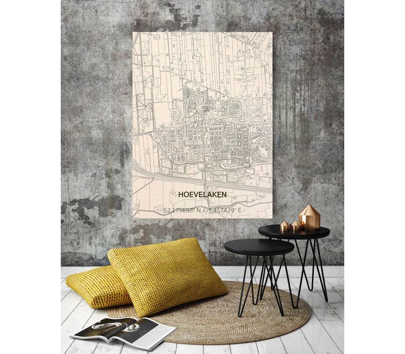 Citymap Hoevelaken | wooden wall decoration