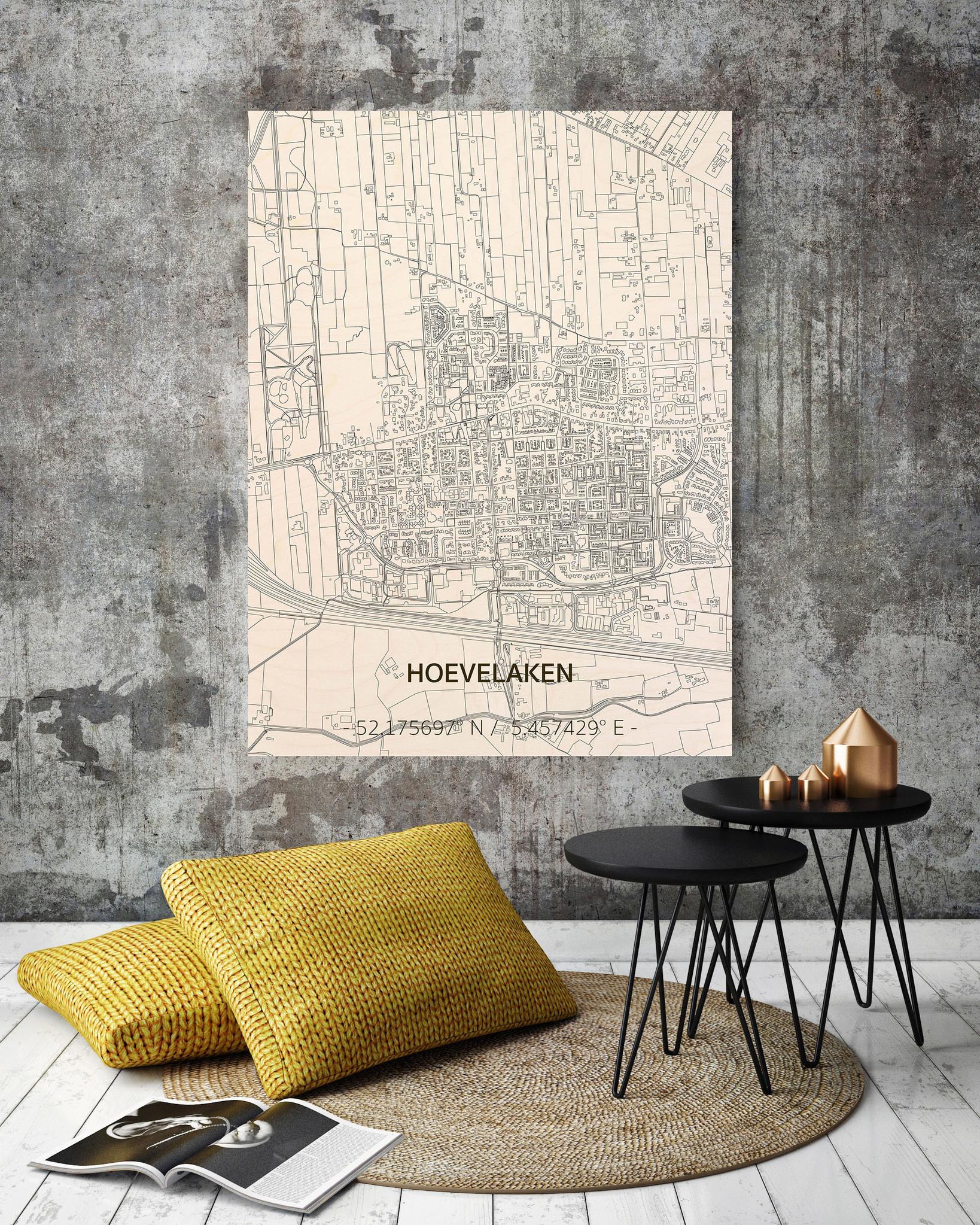 Citymap Hoevelaken | wooden wall decoration-2