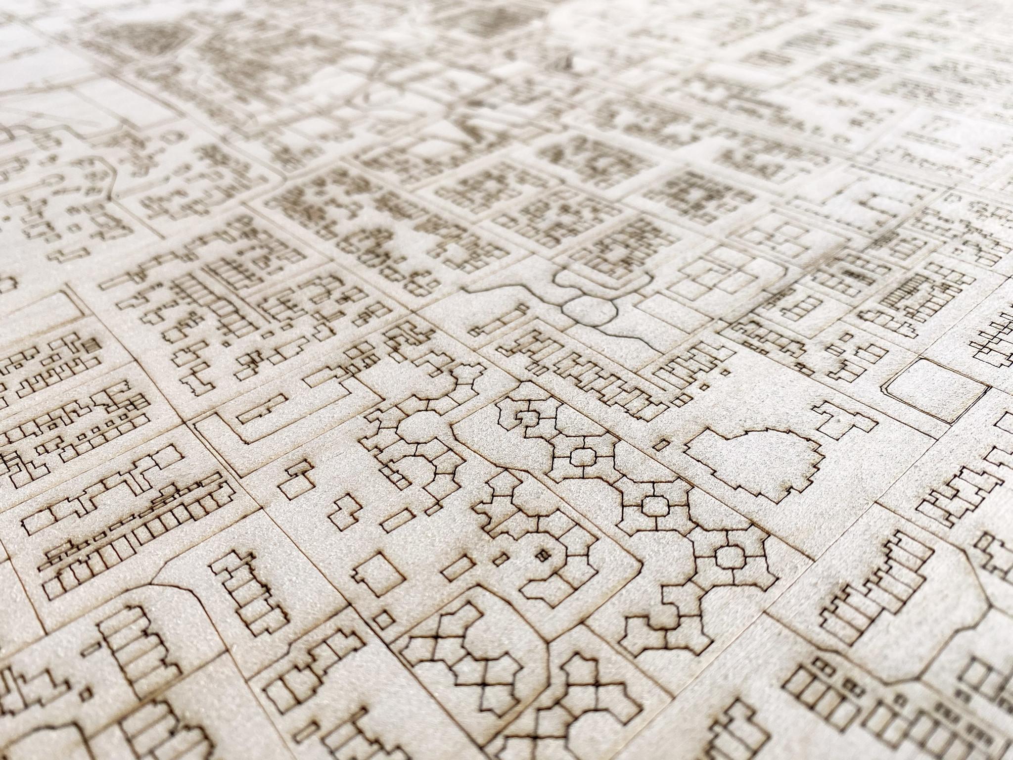 Citymap Hoevelaken | wooden wall decoration-3