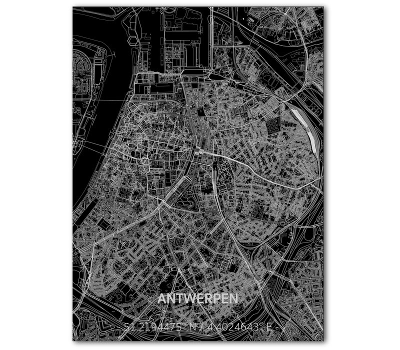 Citymap Antwerp | Aluminum wall decoration