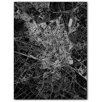 Citymap Gent | Aluminium wanddecoratie