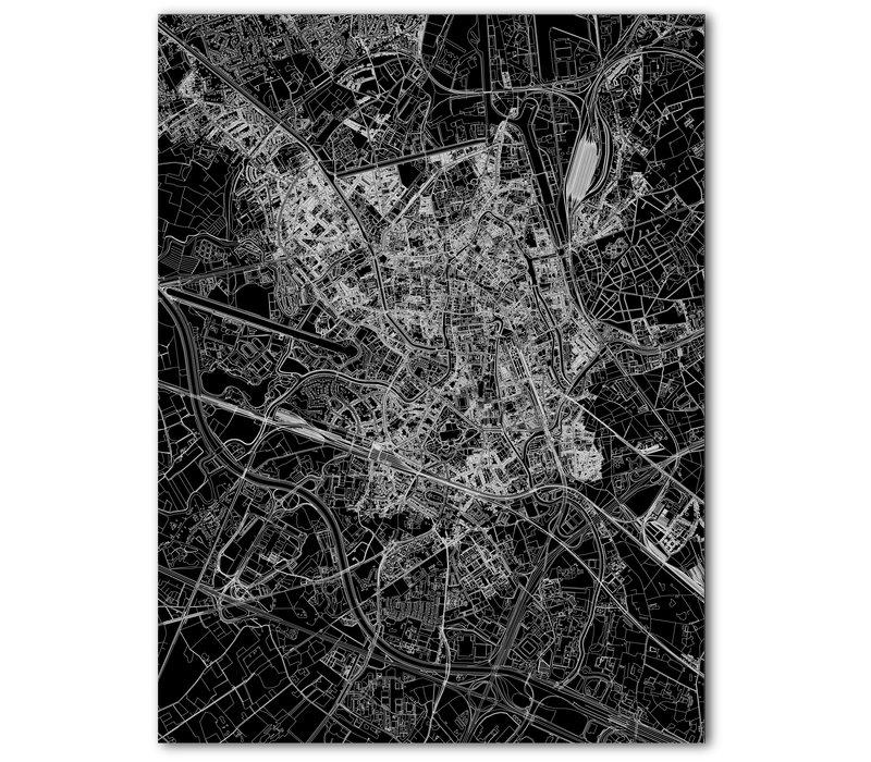 Citymap Ghent | Aluminum wall decoration