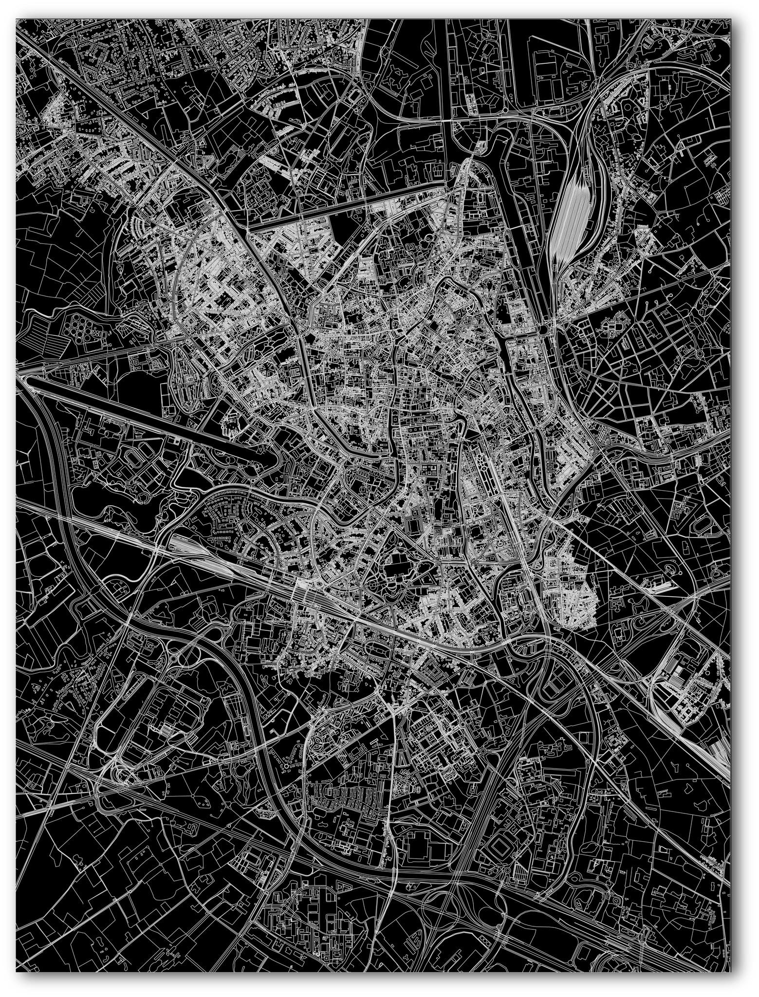 Citymap Gent | Aluminium wanddecoratie-3