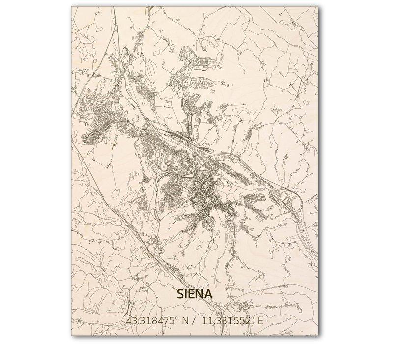 Citymap Siena   houten wanddecoratie