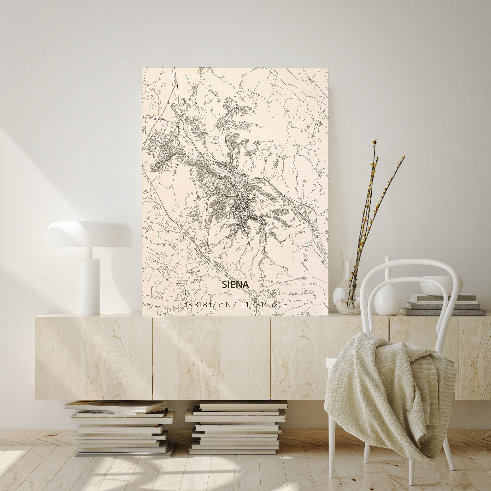 Citymap Siena | houten wanddecoratie-2