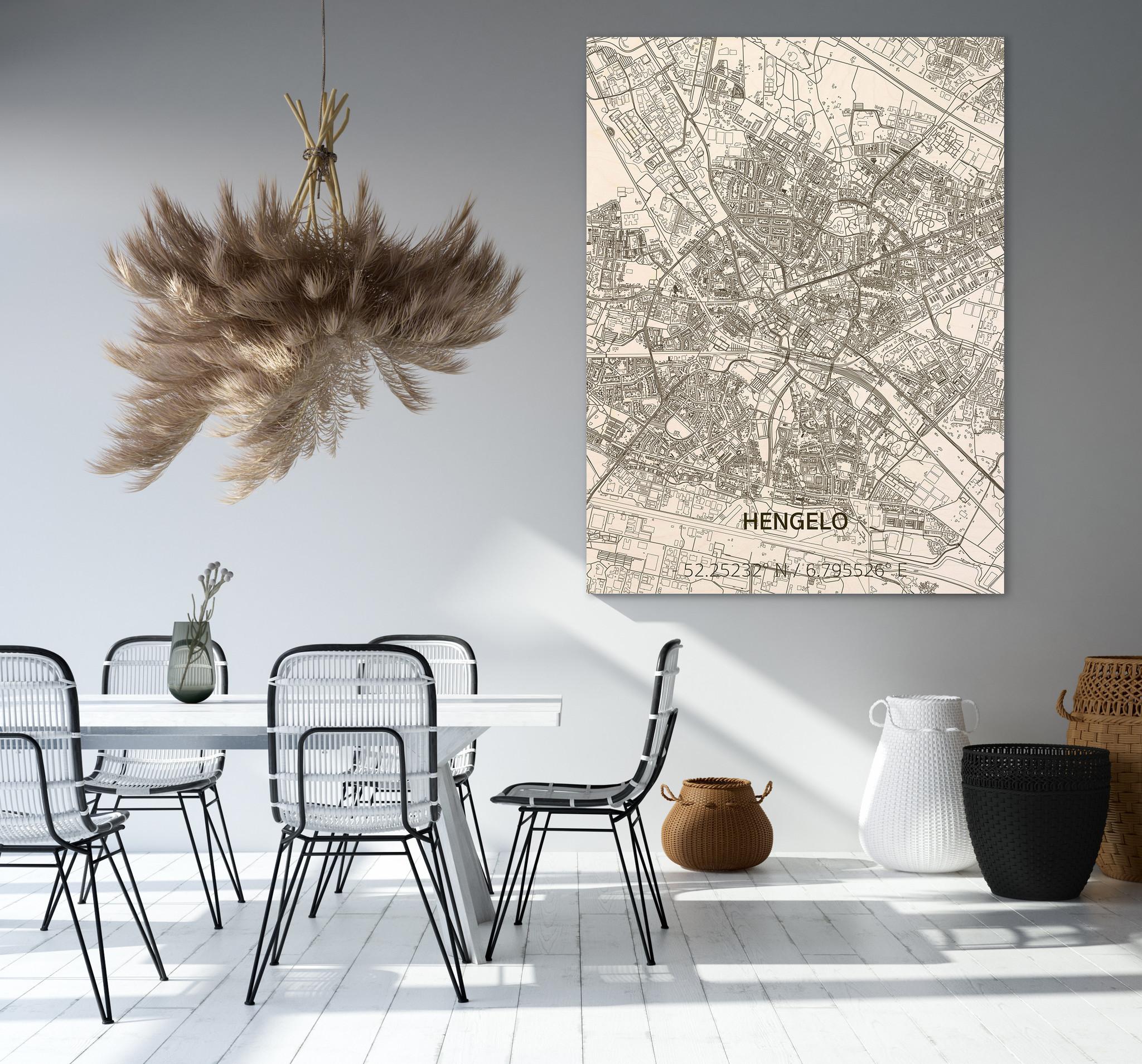 Citymap Hengelo | wooden wall decoration-2