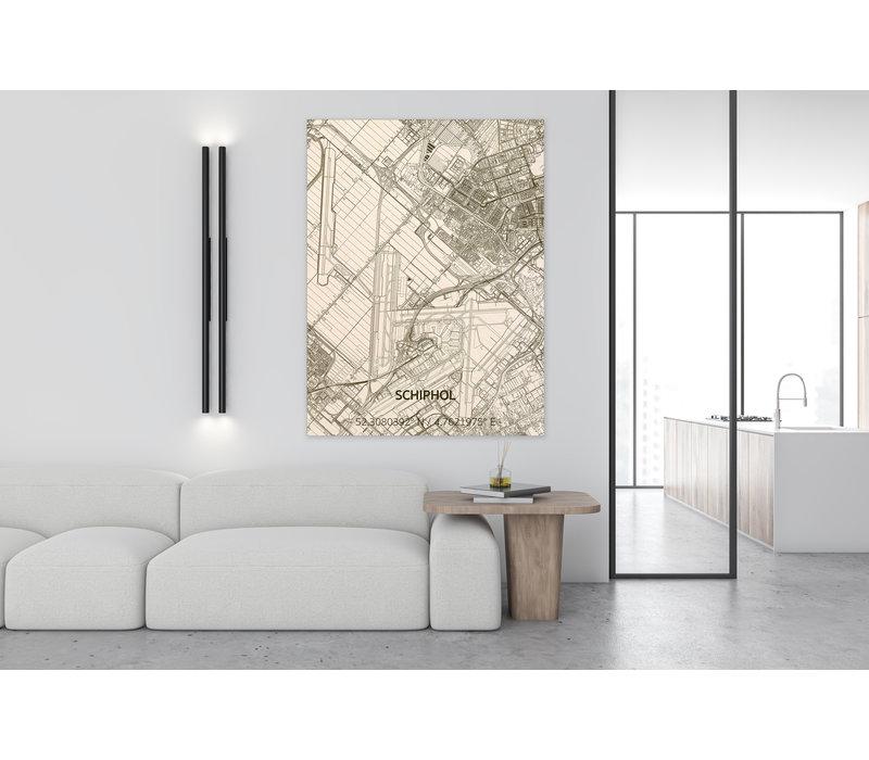 Citymap Schiphol | wooden wall decoration