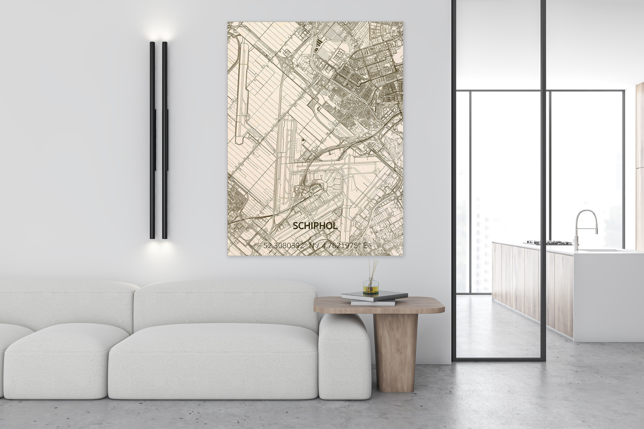 Citymap Schiphol | wooden wall decoration-2
