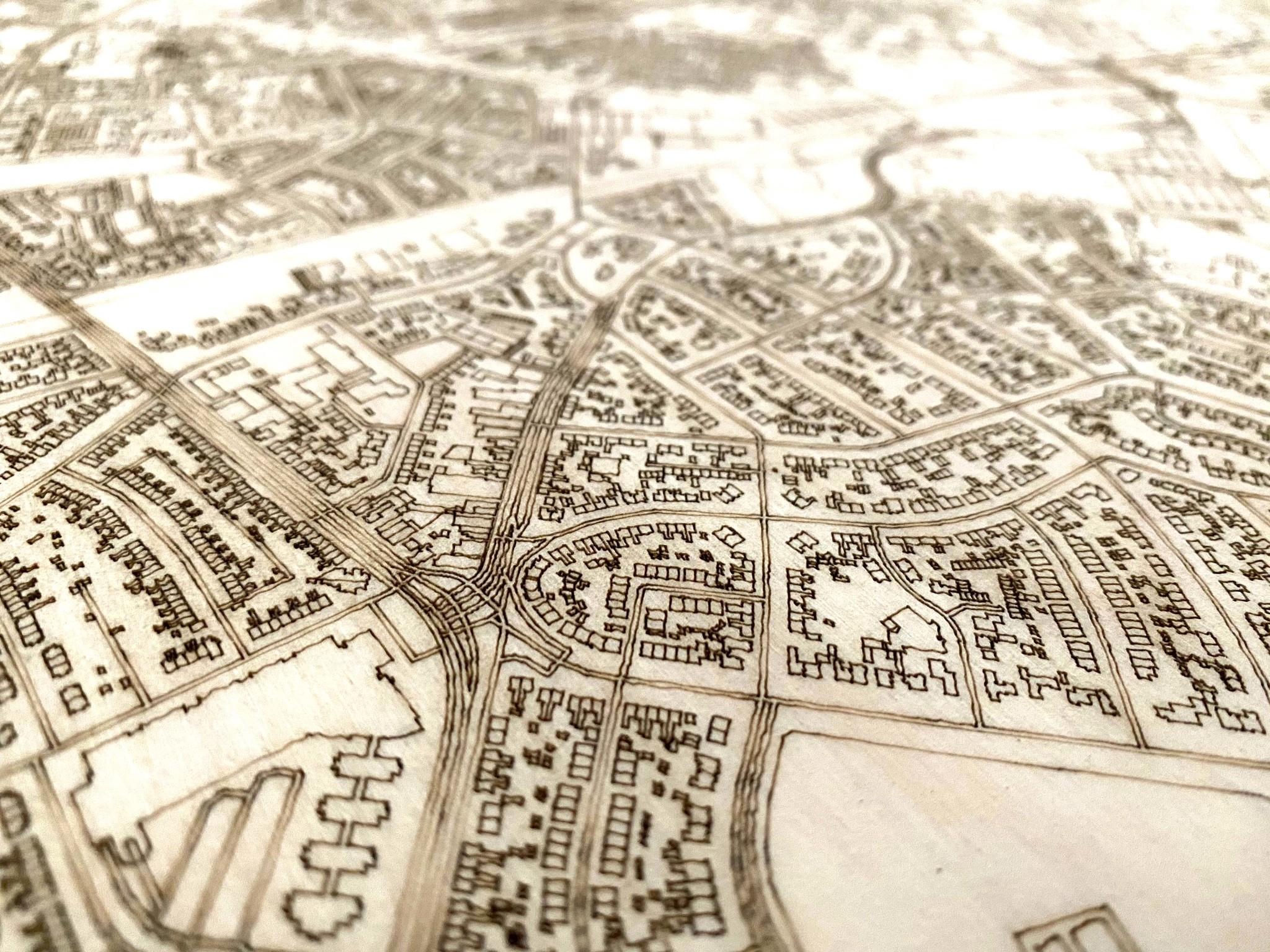 Citymap Hengelo | wooden wall decoration-3