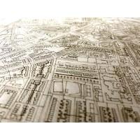 Stadtplan Beverwijk | Wanddekoration Holz