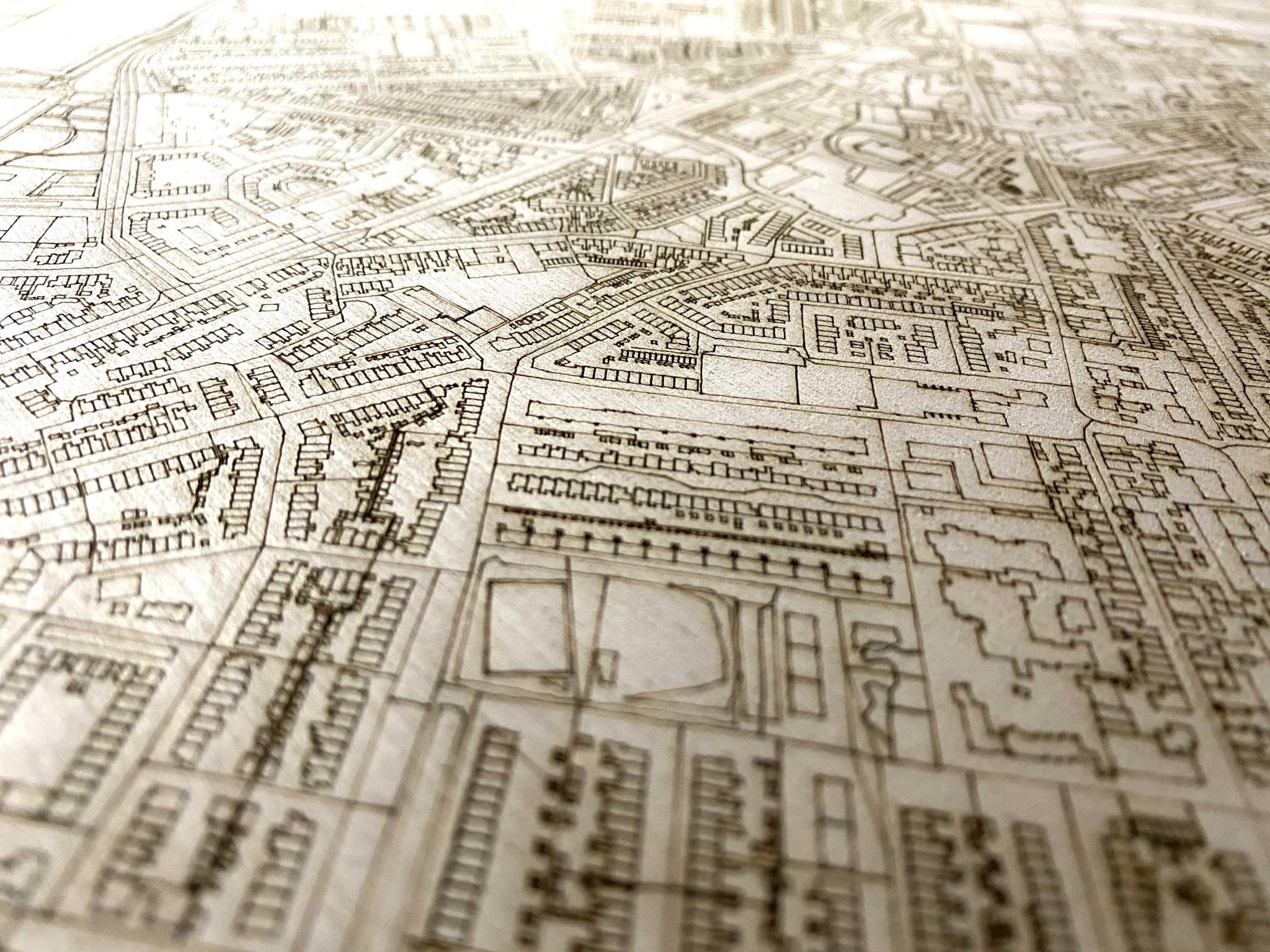 Citymap Beverwijk | houten wanddecoratie-4