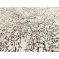 Stadtplan Breda | Wanddekoration Holz