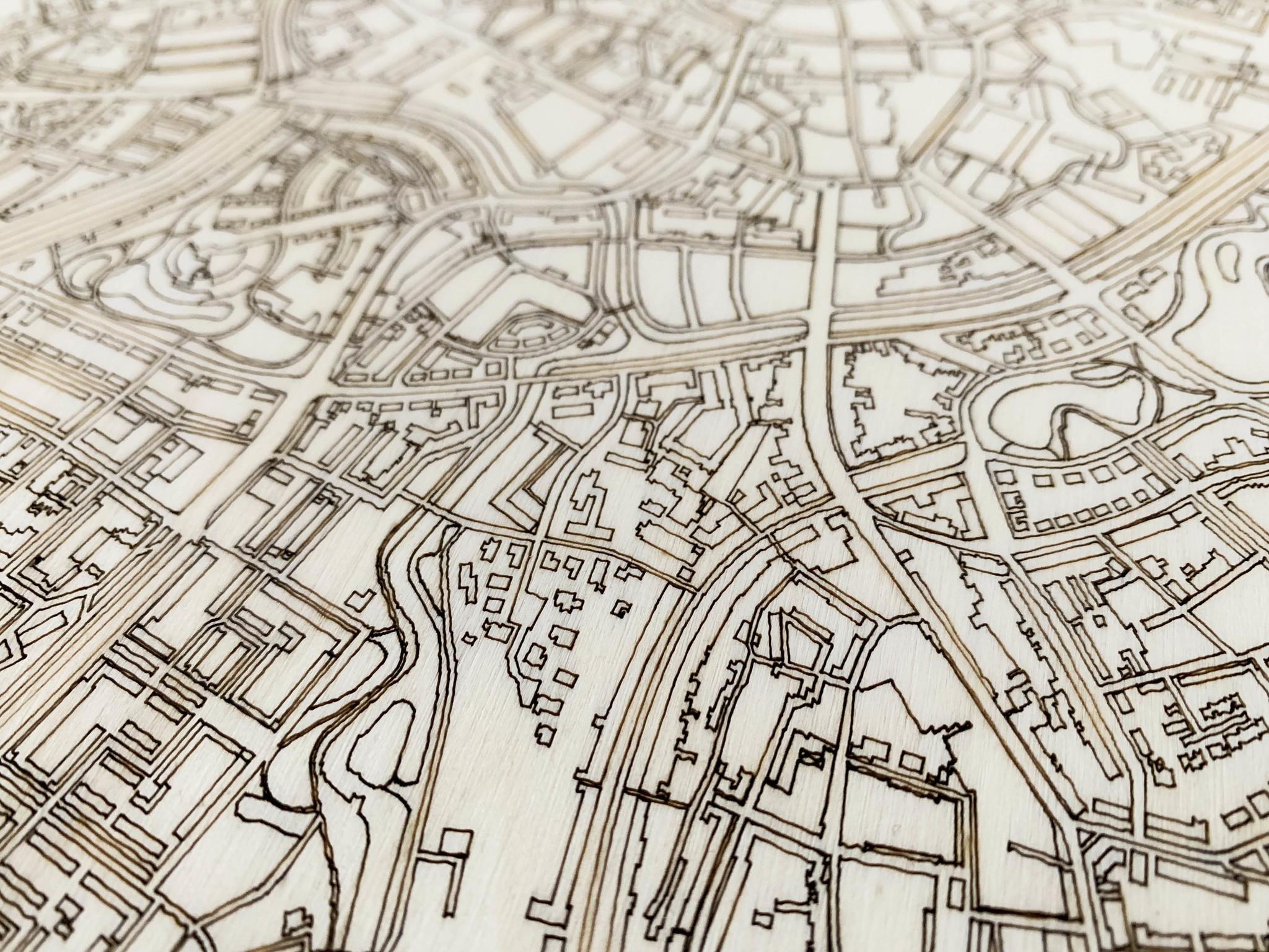 WOODEN WALL DECORATION Breda CITYMAP-4